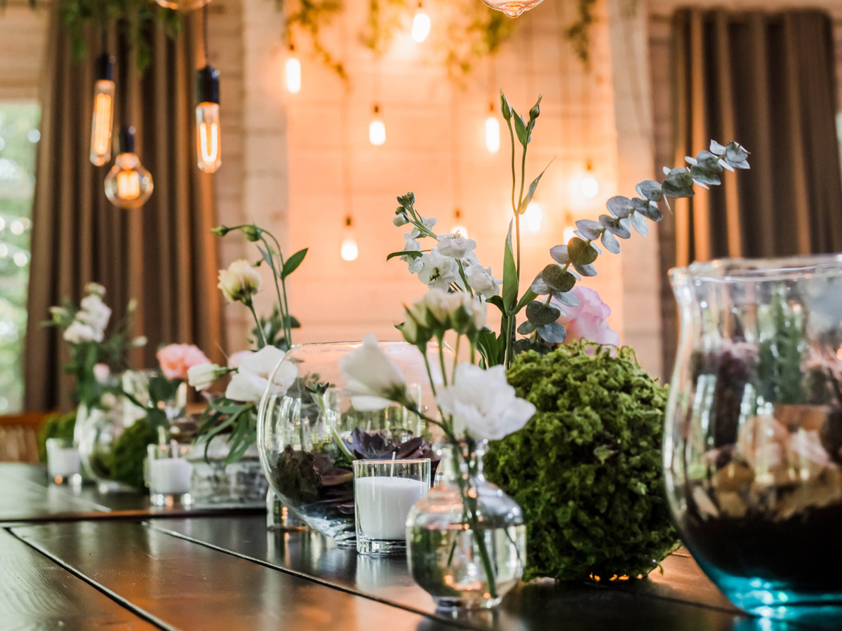 Dressed wedding table
